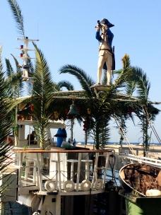 Boat docked in Jaffa