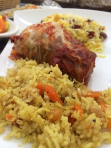Stuffed cabbage & Iranian rice