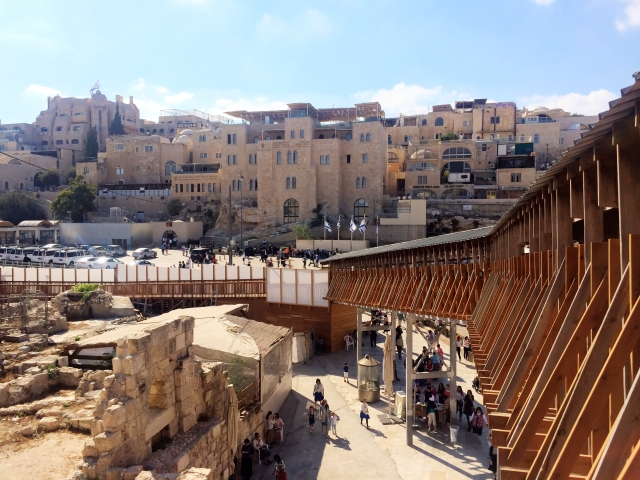 Bridge from Western Wall area to Temple Mount (view from the Temple Mount side)