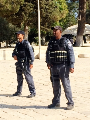 Israeli police at Temple Mount