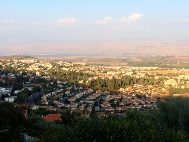 Overlooking Rosh Pinna and Jordan in the far distance