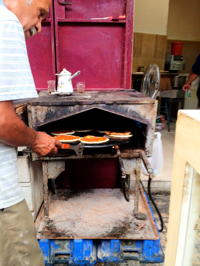 Mini Pizzas at Turkish Bazaar