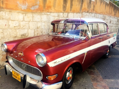 Old fashion car in Nazareth