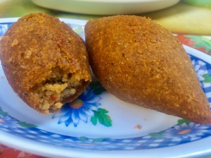Kibbeh stuffed with beef