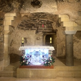 Mary's house in the Church of the Annunciation