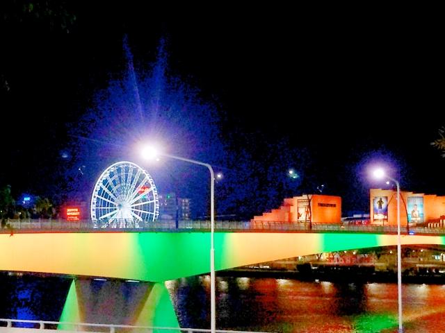 Brisbane wheel at night