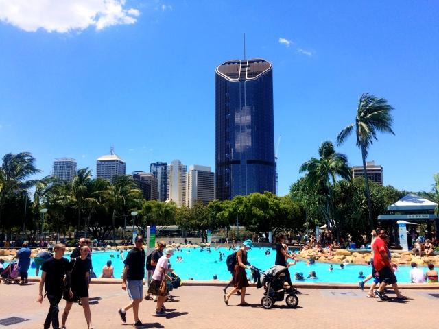 Streets Beach in Brisbane