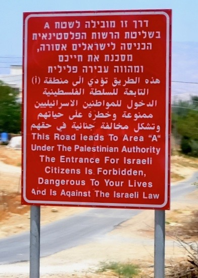Warning sign on highway 90