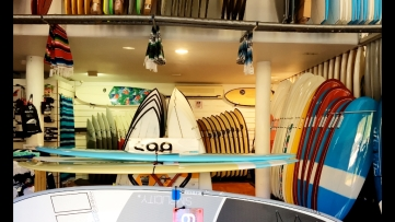 Surf board shop