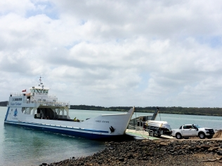 Ferry boat to Fraser Island