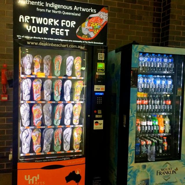 Flip flop vending machine