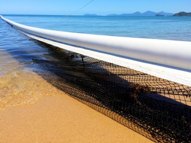 Jellyfish and shark net