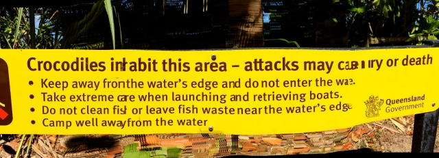 Crocodile warning