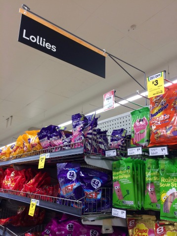 Lollie section (candy section)