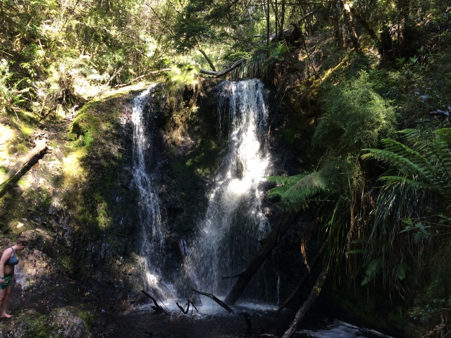 Strahan waterfall