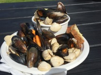 Killary mussels & clams from the seas of Ireland.