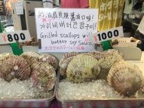 Scallops at Omicho Market, Kanazawa